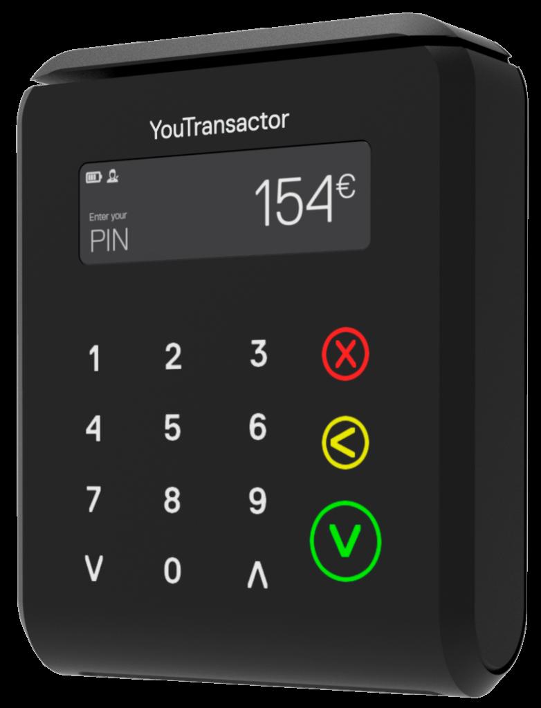 uCube YouTransactor - Terminal de pagamento movil pequeno, leve, compacto para aceitar pagamentos por cartao