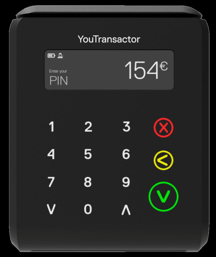 uCube-Terminal de paiement mobile léger, compact, acceptant les cartes de paiement
