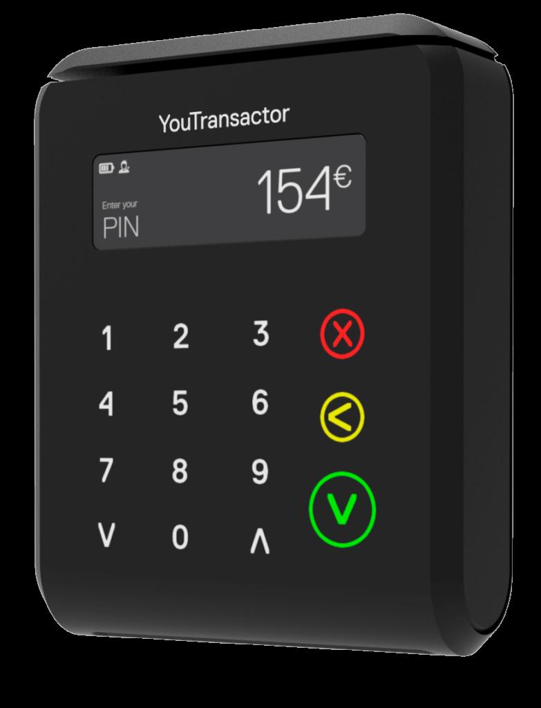 uCube- Terminal de paiement mobile léger, compact, acceptant les cartes de paiement